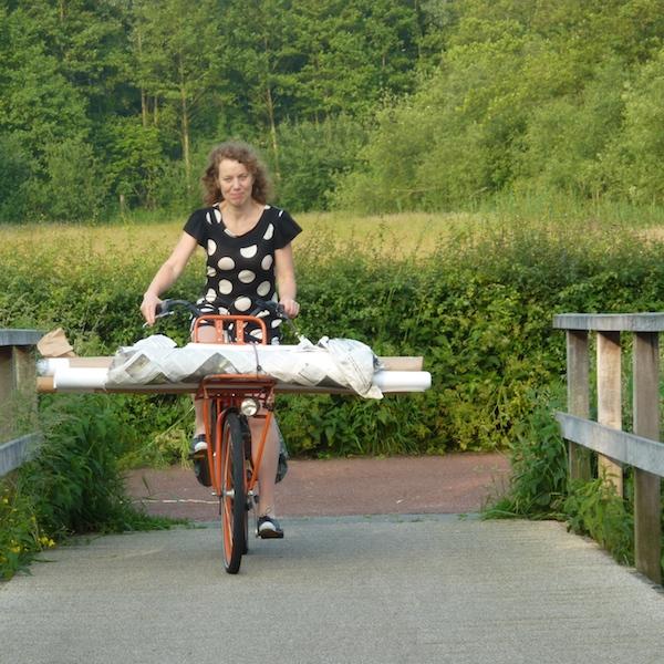 Lea op de fiets